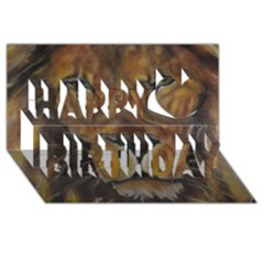 Cecil The African Lion Happy Birthday 3d Greeting Card (8x4)  by timelessartoncanvas