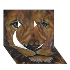 Cecil The African Lion Heart 3d Greeting Card (7x5)  by timelessartoncanvas