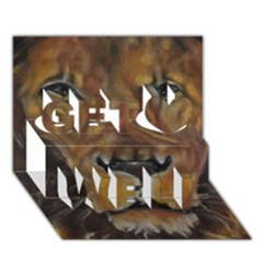 Cecil The African Lion Get Well 3d Greeting Card (7x5)  by timelessartoncanvas