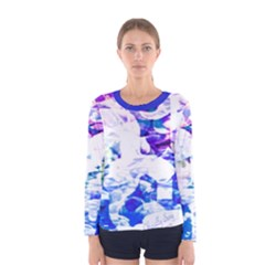 Officially Sexy Candy Collection Blue Women s  Long Sleeve T Shirt by OfficiallySexy