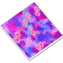 Pink And Purple Marble Waves Small Memo Pads by KirstenStar
