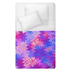 Pink And Purple Marble Waves Duvet Cover Single Side (single Size) by KirstenStar