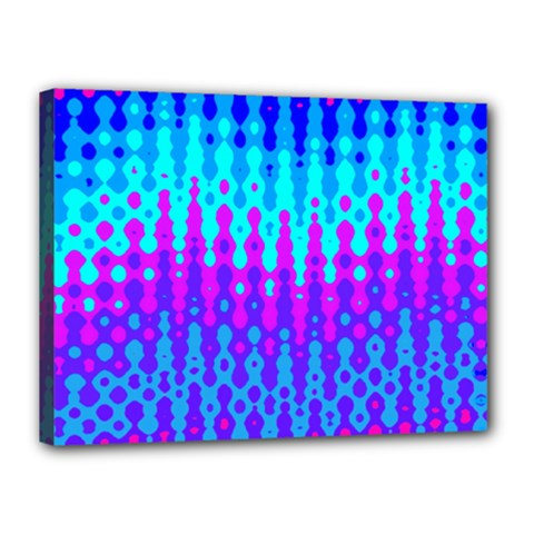 Melting Blues And Pinks Canvas 16  X 12  by KirstenStar