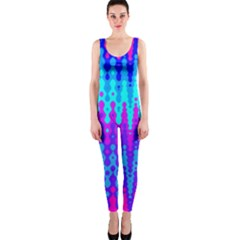 Melting Blues And Pinks Onepiece Catsuits by KirstenStar