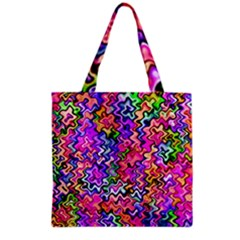 Swirly Twirly Colors Grocery Tote Bags by KirstenStar