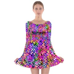 Swirly Twirly Colors Long Sleeve Skater Dress by KirstenStarFashion