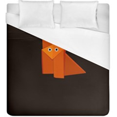 Dark Cute Origami Fox Duvet Cover Single Side (kingsize)