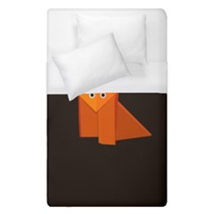 Dark Cute Origami Fox Duvet Cover Single Side (single Size) by CreaturesStore
