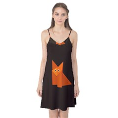 Dark Cute Origami Fox Camis Nightgown