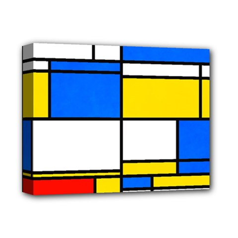 Colorful Rectangles Deluxe Canvas 14  X 11  (stretched) by LalyLauraFLM