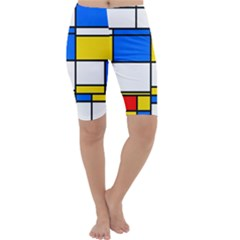 Colorful Rectangles Cropped Leggings by LalyLauraFLM