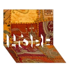 India Print Realism Fabric Art Hope 3d Greeting Card (7x5)  by TheWowFactor