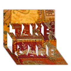 India Print Realism Fabric Art Take Care 3d Greeting Card (7x5)  by TheWowFactor
