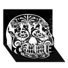 Skull Take Care 3d Greeting Card (7x5)  by ImpressiveMoments