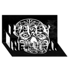 Skull Happy New Year 3d Greeting Card (8x4)  by ImpressiveMoments