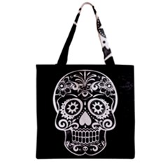 Skull Grocery Tote Bags