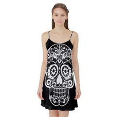 Skull Satin Night Slip