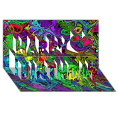 Powerfractal 4 Happy Birthday 3d Greeting Card (8x4)
