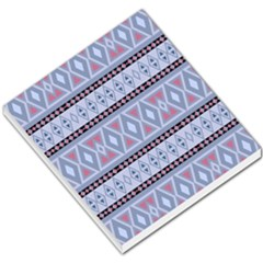Fancy Tribal Border Pattern Blue Small Memo Pads