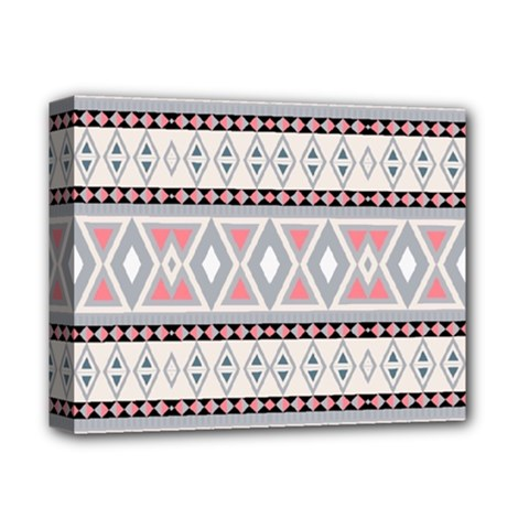 Fancy Tribal Border Pattern Soft Deluxe Canvas 14  X 11  by ImpressiveMoments