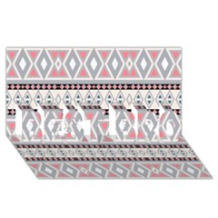 Fancy Tribal Border Pattern Soft Best Bro 3d Greeting Card (8x4)  by ImpressiveMoments