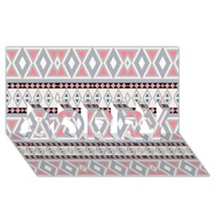 Fancy Tribal Border Pattern Soft Sorry 3d Greeting Card (8x4)  by ImpressiveMoments