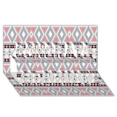 Fancy Tribal Border Pattern Soft Congrats Graduate 3d Greeting Card (8x4)  by ImpressiveMoments