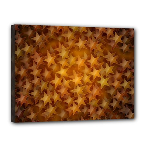 Gold Stars Canvas 16  X 12  by KirstenStar
