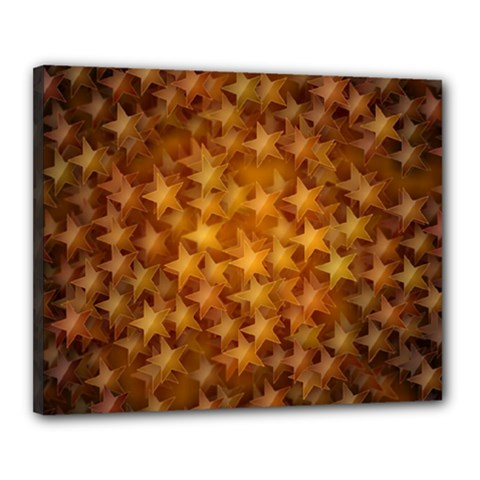 Gold Stars Canvas 20  X 16