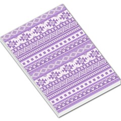 Fancy Tribal Borders Lilac Large Memo Pads