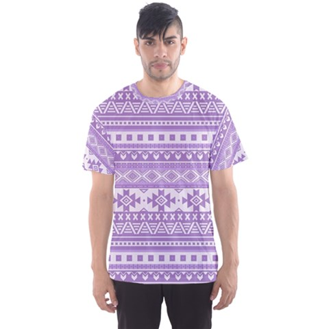 Fancy Tribal Borders Lilac Men s Sport Mesh Tees by ImpressiveMoments