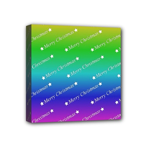 Merry Christmas,text,rainbow Mini Canvas 4  X 4  by ImpressiveMoments