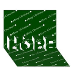 Merry Christmas,text,green Hope 3d Greeting Card (7x5)  by ImpressiveMoments