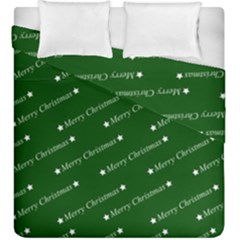 Merry Christmas,text,green Duvet Cover (king Size)