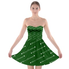 Merry Christmas,text,green Strapless Bra Top Dress by ImpressiveMoments