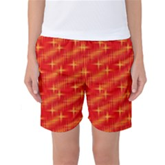 Many Stars,red Women s Basketball Shorts