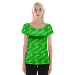 Many Stars, Neon Green Women s Cap Sleeve Top by ImpressiveMoments