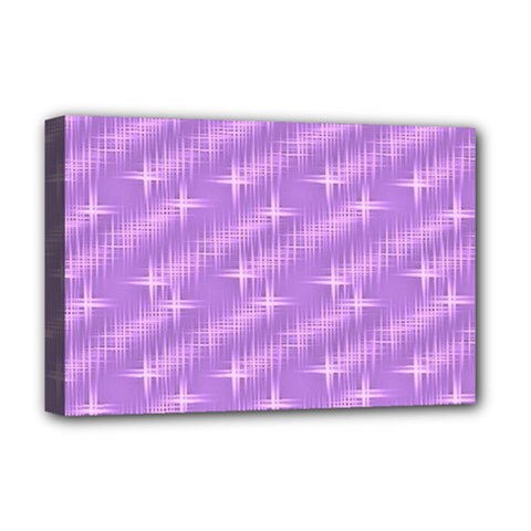 Many Stars, Lilac Deluxe Canvas 18  X 12   by ImpressiveMoments