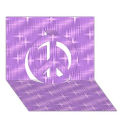 Many Stars, Lilac Peace Sign 3D Greeting Card (7x5)