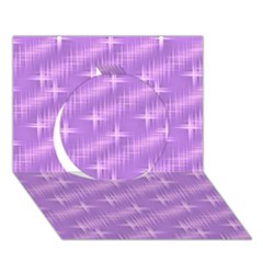 Many Stars, Lilac Circle 3D Greeting Card (7x5)