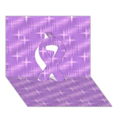 Many Stars, Lilac Ribbon 3D Greeting Card (7x5)