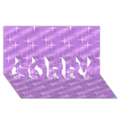 Many Stars, Lilac SORRY 3D Greeting Card (8x4)