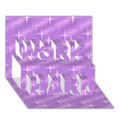 Many Stars, Lilac WORK HARD 3D Greeting Card (7x5)