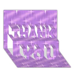 Many Stars, Lilac THANK YOU 3D Greeting Card (7x5)