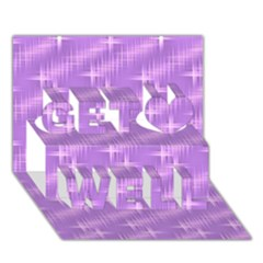 Many Stars, Lilac Get Well 3D Greeting Card (7x5)