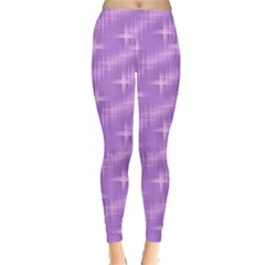 Many Stars, Lilac Women s Leggings