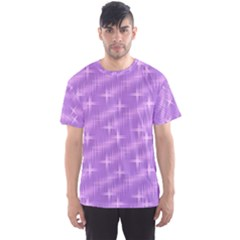 Many Stars, Lilac Men s Sport Mesh Tees
