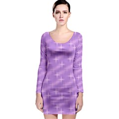 Many Stars, Lilac Long Sleeve Bodycon Dresses