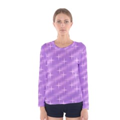 Many Stars, Lilac Women s Long Sleeve T-shirts