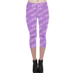 Many Stars, Lilac Capri Leggings